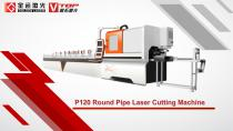 Golden Laser round tube cutting machine P120 for pipe fitting industry