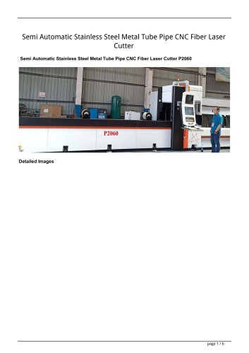Golden Laser Semi Automatic Stainless Steel Metal Tube Pipe CNC Fiber Laser Cutter P2060 P2070 P3080