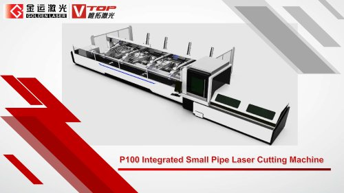 Golden Laser small diameter tube laser cutting machine P1260A for metal furniture industry