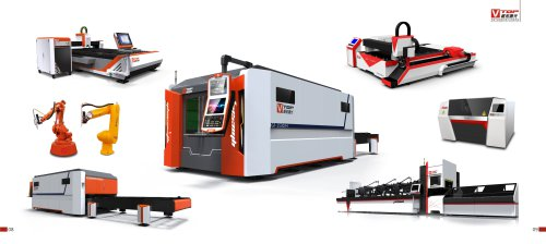 Golden Vtop Fiber Metal Laser Cutting Machine For Tube / Pipe And Sheet / Plate