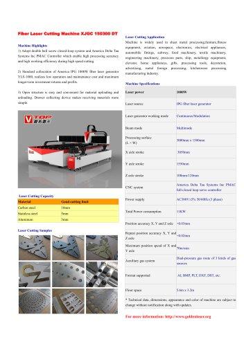 IPG 1000W Fiber Laser Cutting Machine