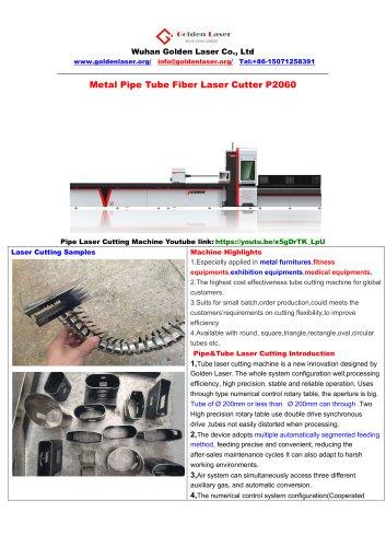 Metal Pipe Tube Fiber Laser Cutter
