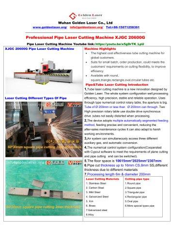 metal pipe and tube fiber laser cutting machine