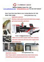 Open type Fiber Laser Metal Sheet Cutting Machine GF-1530