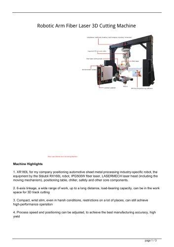 Robotic Arm Fiber Laser 3D Cutting Machine