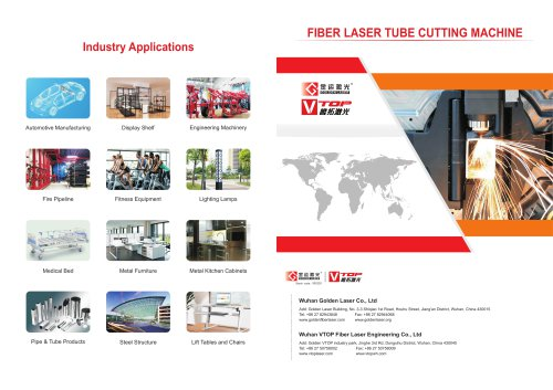 Wuhan Golden Laser Tube cutting machine With CE for metal process industry
