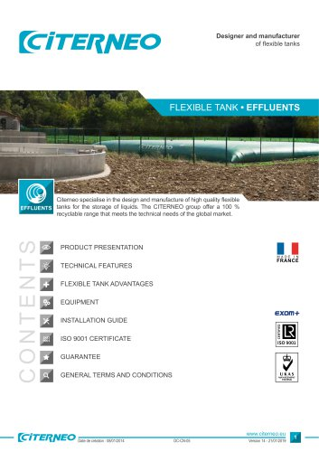 Technical documentation - Effluents