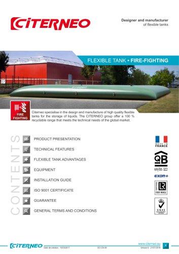 Technical documentation - Fire-fighting flexible tank