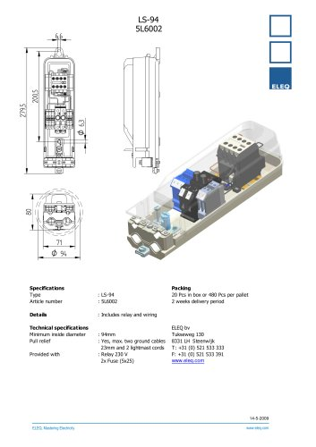 Junction box with relays