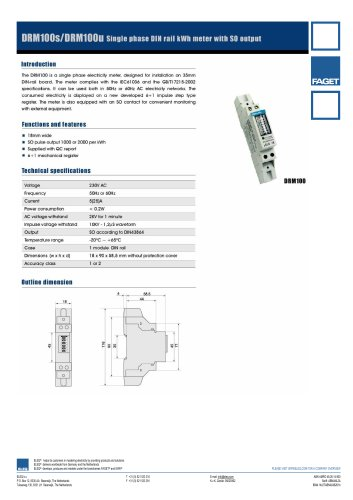 kWh meter single and three phase DIN rail mounting