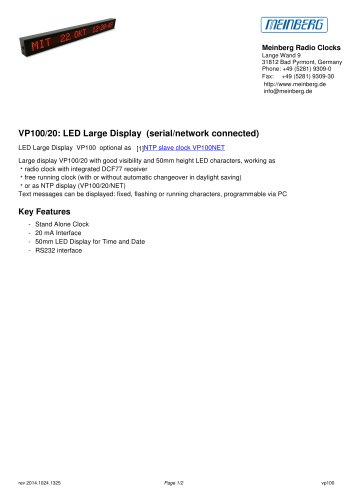 VP100/20: LED Large Display (serial/network connected)