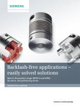 Backlash-free applications - easily solved solutions