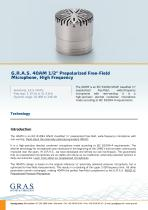 """G.R.A.S. 40AM 1/2"""" Prepolarized Free-Field Microphone, High Frequency - 1"""