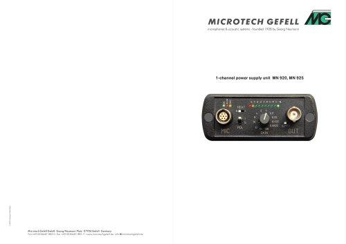 MN 920 / MN 925