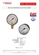 DRY DIAL PRESSURE GAUGE WITH ABS BOX