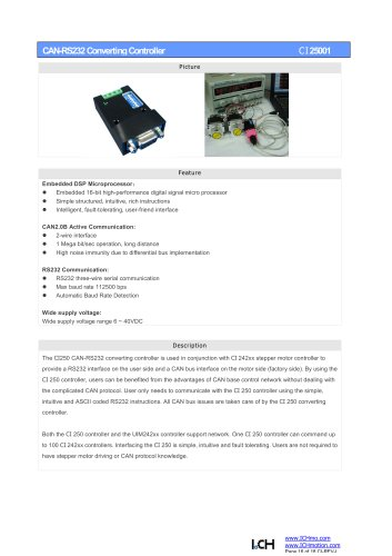 CAN-RS232 Converting Controller CI250