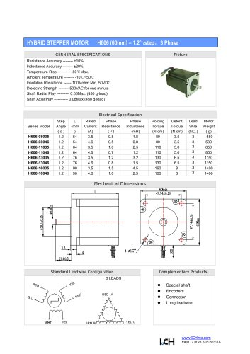 HYBRID STEPPER MOTOR H606 (60mm)