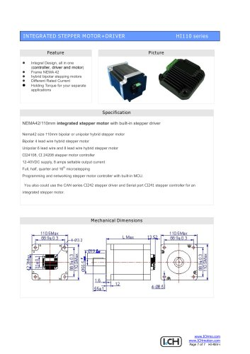 Integral Stepper Motor HI110
