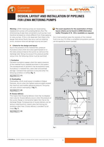 Design of pipelines