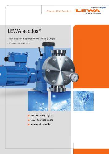 LEWA ecodos - High-quality diaphragm metering pumps for low pressures
