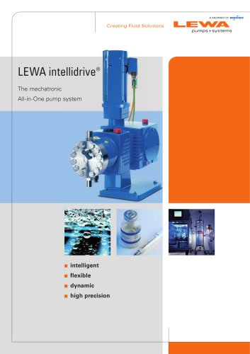 LEWA intellidrive - The mechatronic All-in-One pump system
