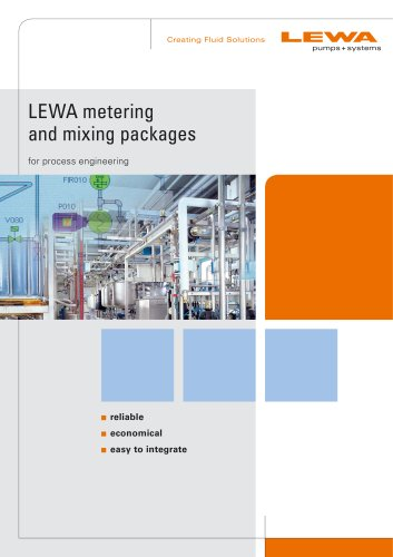 LEWA metering and mixing packages for process engineering