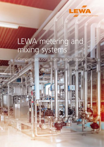 LEWA metering and  mixing systems