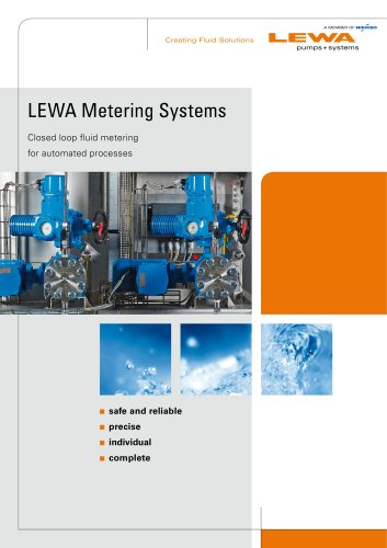 LEWA Metering Systems - Closed loop fluid metering for automated processes