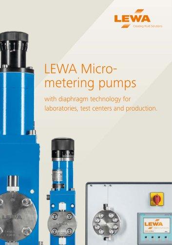 LEWA Micrometering pumps