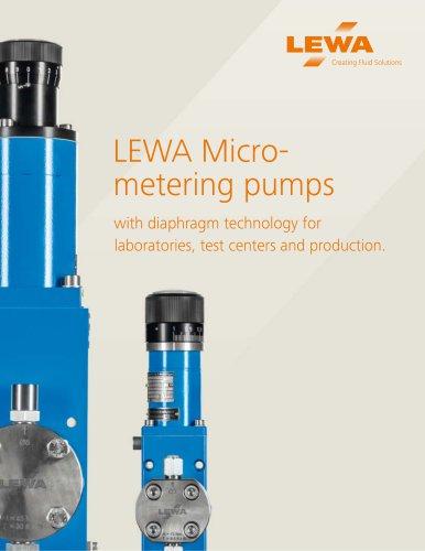 LEWA Micrometering pumps (USA)
