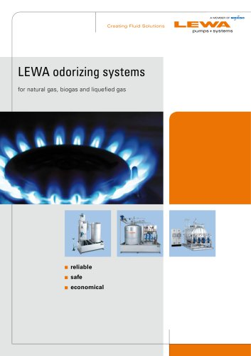 LEWA odorizing systems - for natural gas, biogas and liquefied gas