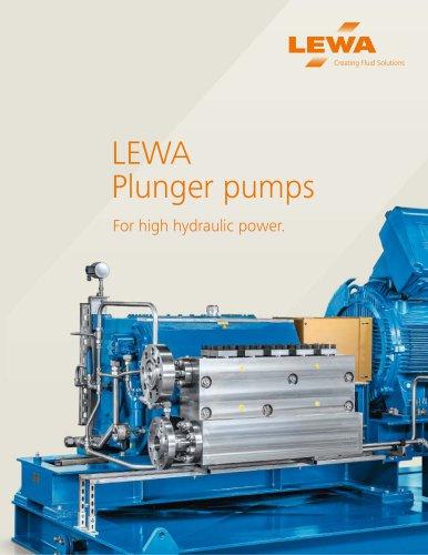 LEWA plunger pumps (USA)