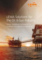 LEWA Solutions for  the Oil & Gas Industry