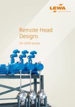 Remote Head Designs for LEWA pumps