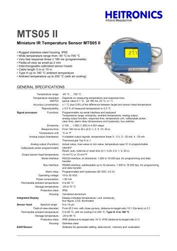 Miniature IR Temperature Sensor MTS05 II