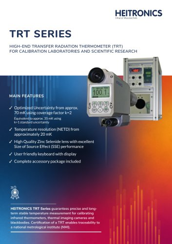 TRT Transfer Thermometers (Calibration thermometers)