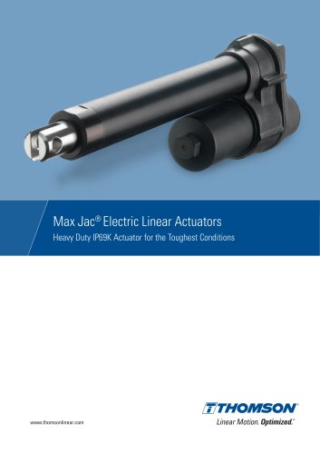 Max Jac® Electric Linear Actuators (IP69K)