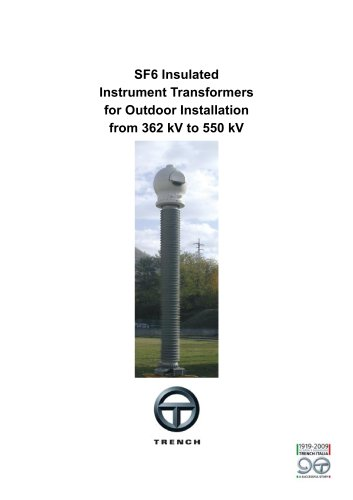 Gas-insulated Instrument Transformers 362-550kV [TAG, TVG]