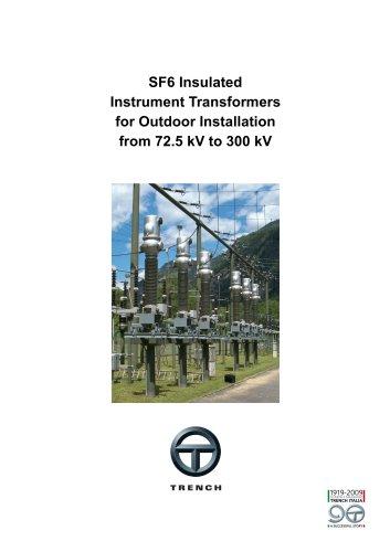 Gas-insulated Instrument Transformers 72-300kV [TAG, TVG, AVG]