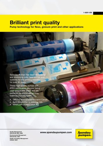 Brilliant print quality due to perfected pump technology