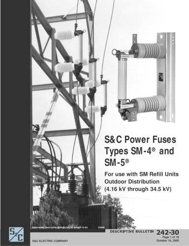 Power Fuses - Types SM-4 and SM-5