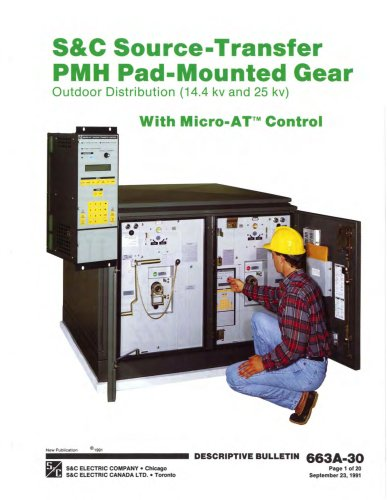 Source-Transfer PMH Pad-Mounted Gear
