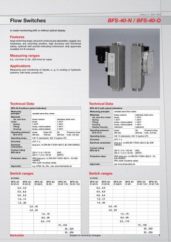 Flow Switches BFS-40-N / BFS-40-O