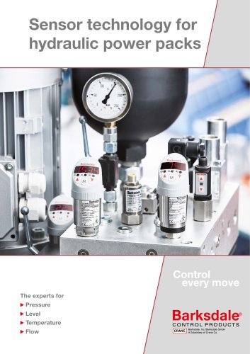 Sensor technology for hydraulic power packs