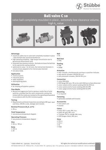 Ball valve C 10