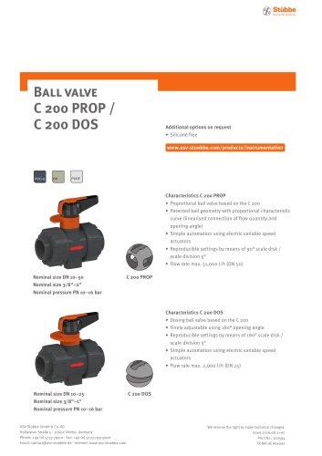 Ball valve C200 PROP/C200 DOS