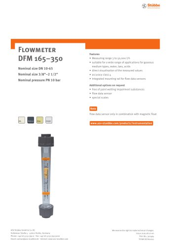 Flowmeter DFM350