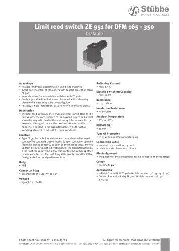 Limit reed switch ZE951