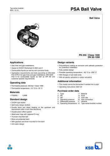 Ball Valve KHG PN 250