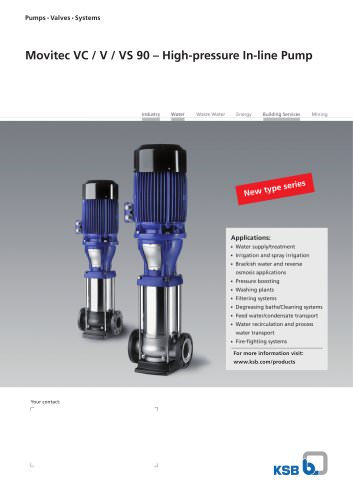 Movitec VC / V / VS 90 – High-pressure In-line Pump